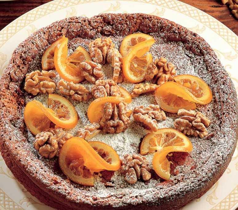 Torta arance e noci