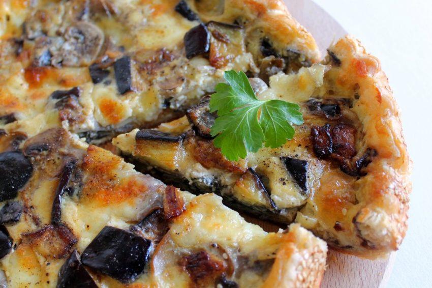 🍆Torta salata integrale con mozzarella e melanzane🍆