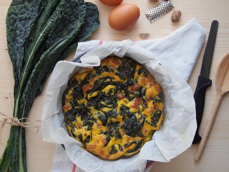 Uovo sbattuto con cavolo nero e parmigiano