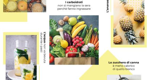 i falsi miti sull'alimentazione