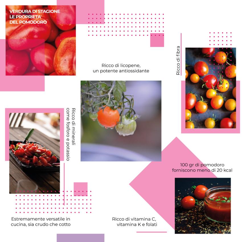 Verdura di stagione, le proprietà del pomodoro